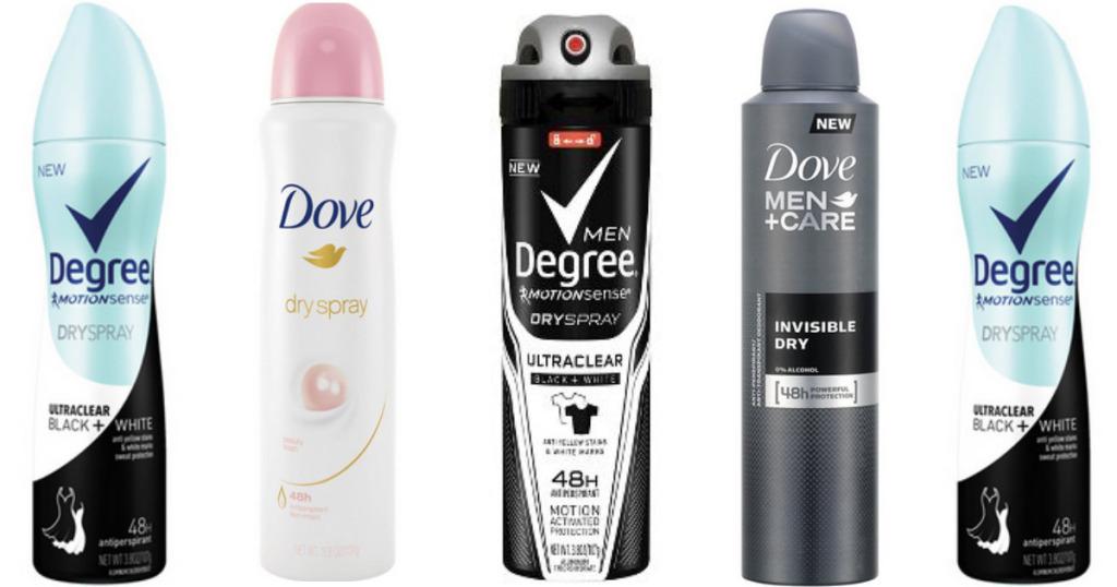 FREE Axe, Dove, OR Degree Dry Spray Deodorant - The Spenderella